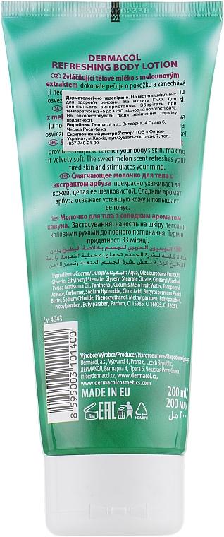 Erfrischende Körperlotion mit Wassermelonenduft - Dermacol Body Aroma Ritual Refreshing Body Lotion — Bild N2