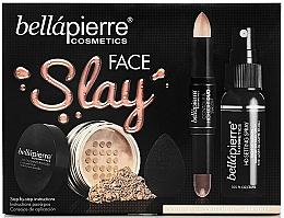 Düfte, Parfümerie und Kosmetik Make-up Set - Bellapierre Face Slay Kit Dark/Deep (Highlighter 8.6g + Gesichtspuder 6.5g + Make-up Fixierspray 70ml + Make-up Schwamm)