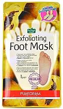 Düfte, Parfümerie und Kosmetik Fuß-Peeling-Maske in Socken mit mit Papaya- und Kamillenextrakten - Purederm Exfoliating Foot Mask