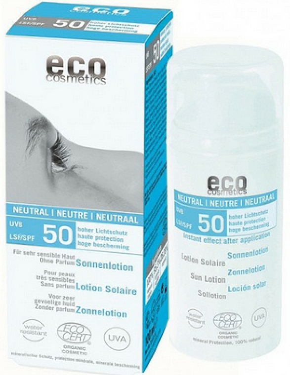 Sonnenschützende Körperlotion, duftlos SPF 50 - Eco Cosmetics Sun Lotion SPF 50