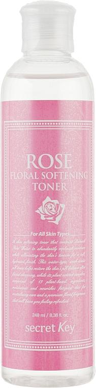 Feuchtigkeitsspendender und aufweichender Gesichtstoner mit Damast-Rosenwasser - Secret Key Rose Floral Softening Toner