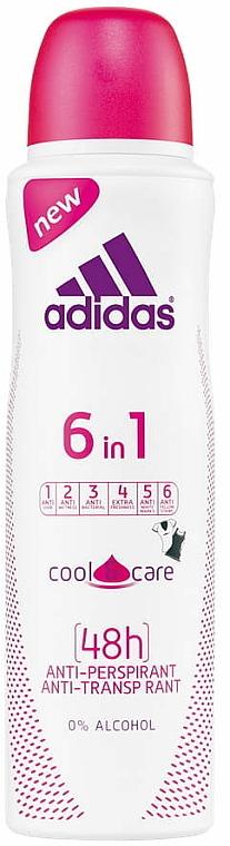 Deospray Antitranspirant - Adidas Anti-Perspirant 6 in 1 Cool&Care 48h — Bild N1