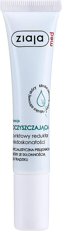 Antibakterielle Anti-Akne Gesichtspflege - Ziaja Med Spot Acne Reducing Treatment Antibacterial