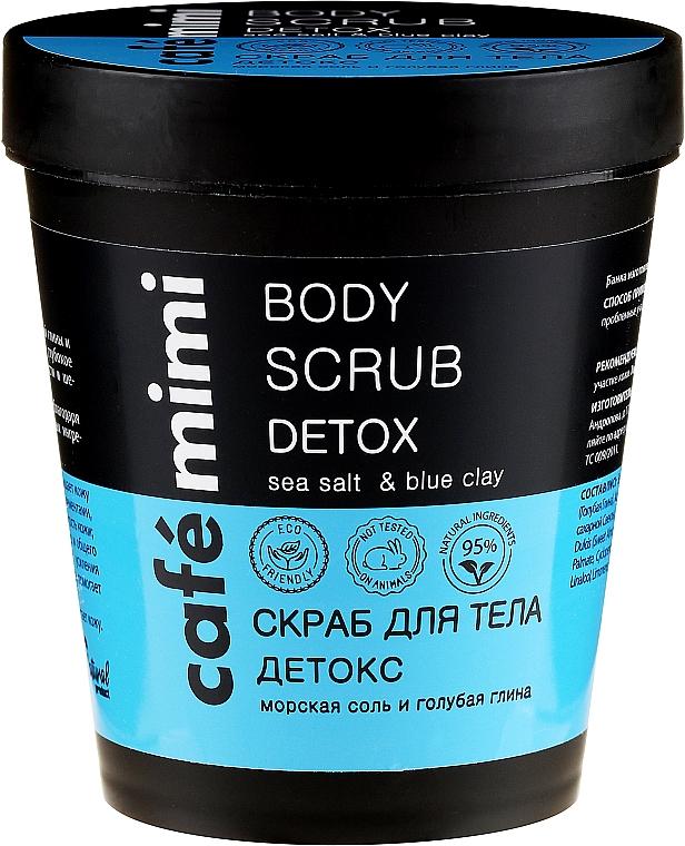 Detox-Körperpeeling mit Meersalz und blauer Tonerde - Cafe Mimi Body Scrub Detox