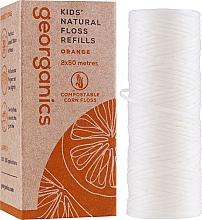 Düfte, Parfümerie und Kosmetik Gewachste Zahnseide mit Orange 30 m - Georganics Natural Sweet Orange Dental Floss (Austauschbare Patrone)