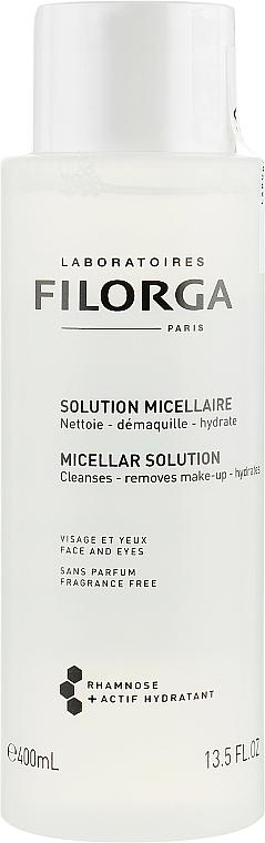 Feuchtigkeitsspendendes Anti-Aging Mizellen-Reinigungswasser zum Abschminken - Filorga Medi-Cosmetique Micellar Solution