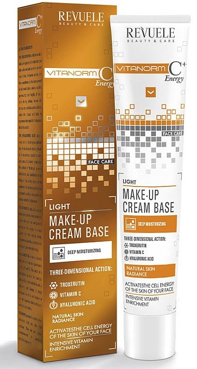 Feuchtigkeitsspendende Foundation mit Hyaluronsäure, Troxerutin & Vitamin C - Revuele Vitanorm C+ Energy Cream Base