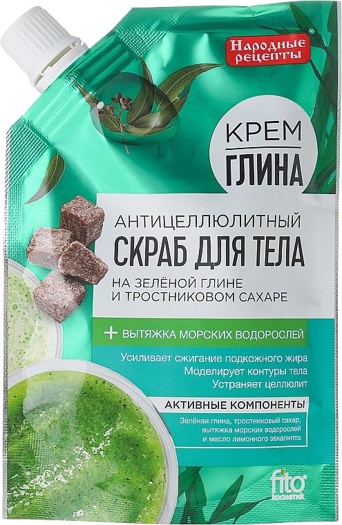 Anti-Cellulite Körperpeeling mit grünem Ton und Rohrzucker - Fito Kosmetik Volksrezepte
