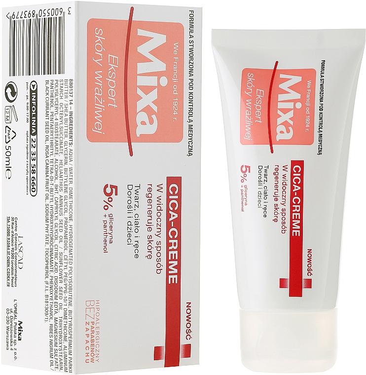 Regenerierende und wundpflegende Körper-, Gesichts- und Handcreme für Erwachsene und Kinder - Mixa Cica Cream