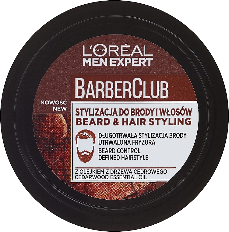 Bart- und Haarcreme Mittlerer Halt - L'Oreal Paris Men Expert Barber Club
