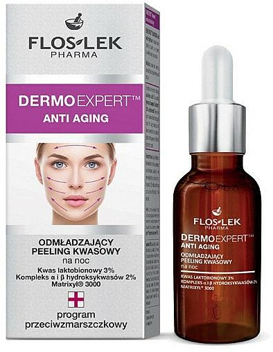 Anti-Aging Säurepeeling für die Nachtpflege - Floslek Dermo Expert Anti Aging Peeling