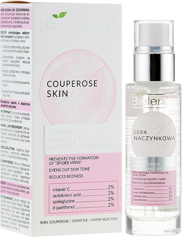 Gesichtsserum gegen Couperose Haut mit Vitamin C, Azeloglycin und Lactobionsäure - Bielenda Capillary Skin Face Serum