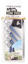 Düfte, Parfümerie und Kosmetik Auto-Lufterfrischer Clean Cotton Duftstick - Yankee Candle Clean Cotton Fragrance Car Vent Sticks