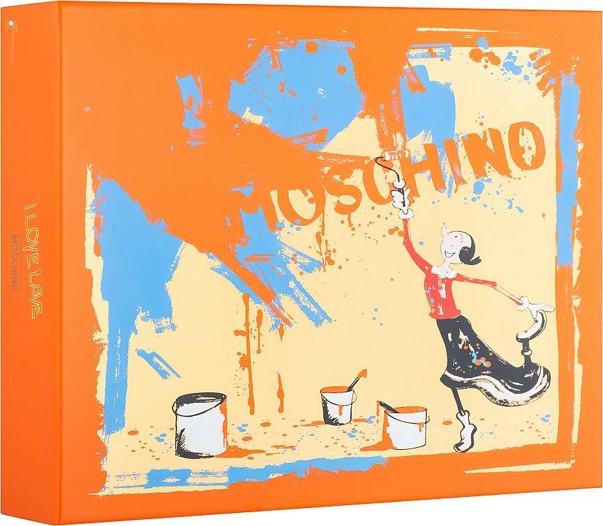 Moschino I Love Love - Duftset (Eau de Toilette 50ml + Körperlotion 100ml + Duschgel 100ml)