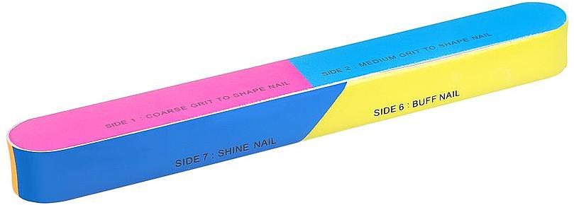 7-Stufen-Nagelpufferblock 163x22x17mm - Tools For Beauty 7-way Nail Buffer Block