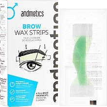 Düfte, Parfümerie und Kosmetik Enthaarungsstreifen Augenbrauen für Männer - Andmetics Brow Wax Strips Men (Wachsstreifen 4 St. + 2x2 Zusatzstreifen + Pflegetücher 4 St.)