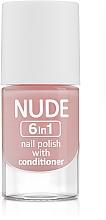 Düfte, Parfümerie und Kosmetik Nagellack - Ados Nude 6in1 Nail Polish With Conditioner