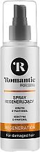 Düfte, Parfümerie und Kosmetik Regenerierendes Haarspray für geschädigtes Haar mit Keratin und D-Panthenol - Romantic Professional