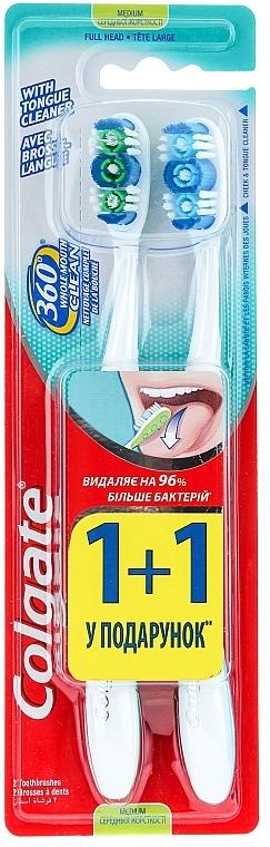 Zahnbürste mittel 360° Whole Mouth Clean blau, grün 2 St. - Colgate