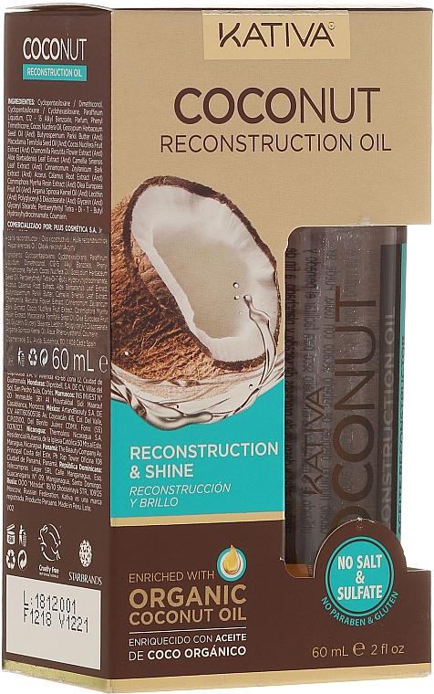 Revitalisierendes Haaröl mit Kokosnuss für mehr Glanz - Kativa Coconut Reconstruction Oil