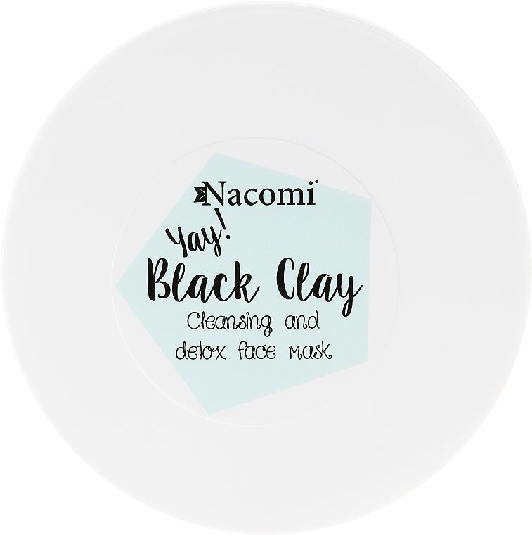 Reinigungsmaske für empfindliche und normale Haut - Nacomi Black Clay