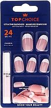 Düfte, Parfümerie und Kosmetik Künstliche Fingernägel French inkl. Kleber 74066 - Top Choice