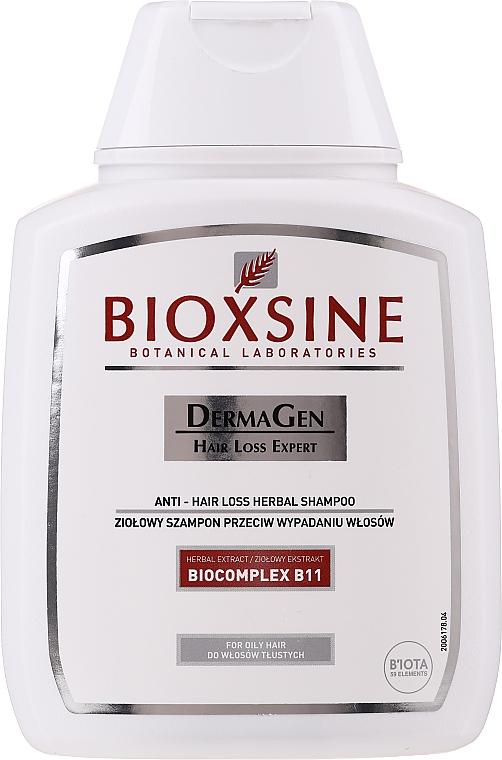 Pflanzliches Shampoo gegen Haarausfall für fettiges Haar - Biota Bioxsine Shampoo