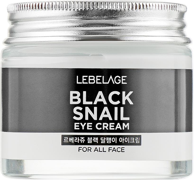 Revitalisierende und aufhellende Anti-Falten Augenkonturcreme mit Schneckenschleimfiltrat - Lebelage Black Snail Eye Cream