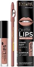 Düfte, Parfümerie und Kosmetik Eveline Cosmetics Oh! My Lips (Lippenstift 4.5g + Lippenkonturenstift 1g) - Make-up Set