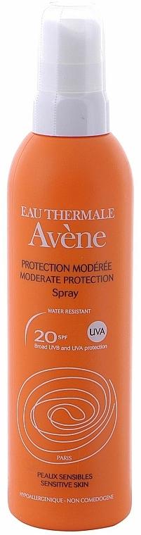 Wasserfestes Sonnenschutzspray für empfindliche Haut SPF 20 - Avene Solaires Moderate Protection Spray SPF 20