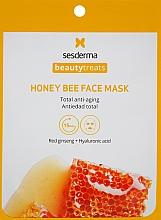 Düfte, Parfümerie und Kosmetik Anti-Aging Tuchmaske mit rotem Ginseng und Hyaluronsäure - SesDerma Laboratories Beauty Treats Honey Bee Face Mask