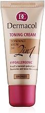 Düfte, Parfümerie und Kosmetik 2in1 Feuchtigkeits- und Tönungscreme - Dermacol Make-Up Toning Cream