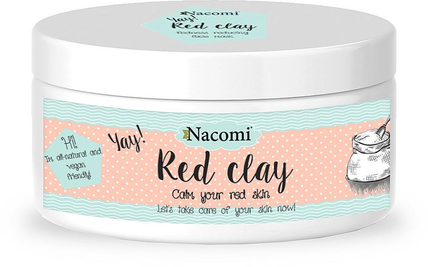 Reinigungsmaske für empfindliche und normale Haut - Nacomi Red Clay