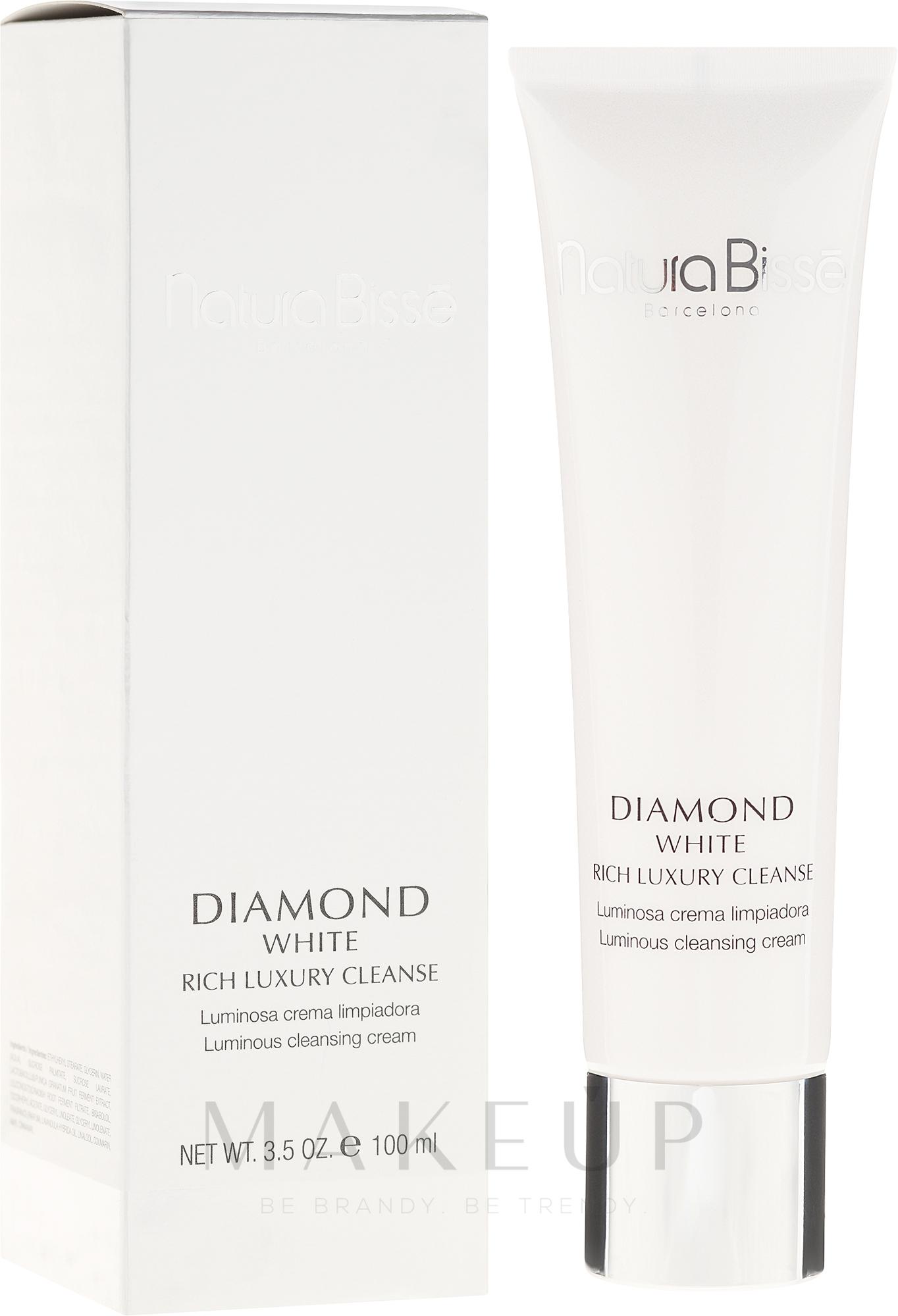 Aufhellende und Leuchtkraft spendende Reinigungscreme für das Gesicht - Natura Bisse Diamond White Rich Luxury Cleanser — Bild 100 ml