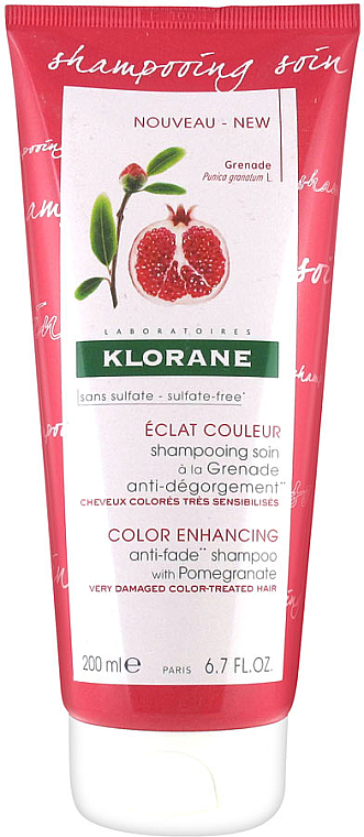 Shampoo mit Granatapfel für geschädigtes und gefärbtes Haar - Klorane Color Enhancing Anti-Fade Shampoo With Pomegranate — Bild N1