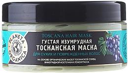 Düfte, Parfümerie und Kosmetik Smaragdgrüne toskanische Maske für trockenes und strapaziertes Haar - Planeta Organica Toscana Hair Mask