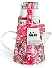 Düfte, Parfümerie und Kosmetik Körperpflegeset - IDC Institute Royal Garden (Duschgel 100ml + Körperlotion 100ml + Badesalz 150g + Seife 25g)