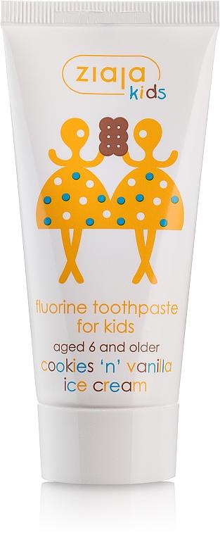 Kinderzahnpasta 6+ Jahre mit Kekse- und Vanilleeis-Geschmack - Ziaja Kids Cookies 'N' Vanilla Ice Cream