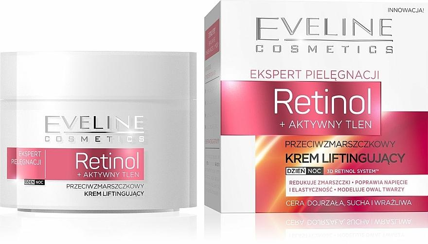 Anti-Falten Gesichtscreme für Tag und Nacht mit Lifting-Effekt - Eveline Cosmetics Skin Care Expert Retinol Lifting Cream