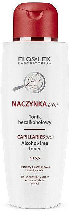 Erfrischendes Gesichtstonikum für normale und Mischhaut - FlosLek Dilated Capillaries Alcohol-Free Toner pH 5,5