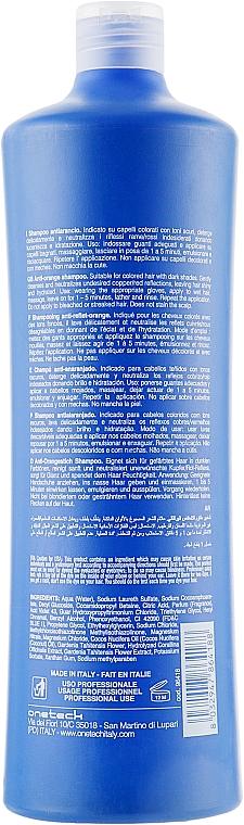 Farbneutralisierendes Shampoo für dunkel gefärbtes Haar - Fanola No Orange Extra Blue Pigment Shampoo — Bild N4