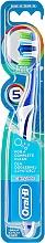 Düfte, Parfümerie und Kosmetik Zahnbürste mittel Complete 5 Way Clean dunkelblau-weiß - Oral-B Complete 5 Ways Clean 40 Medium