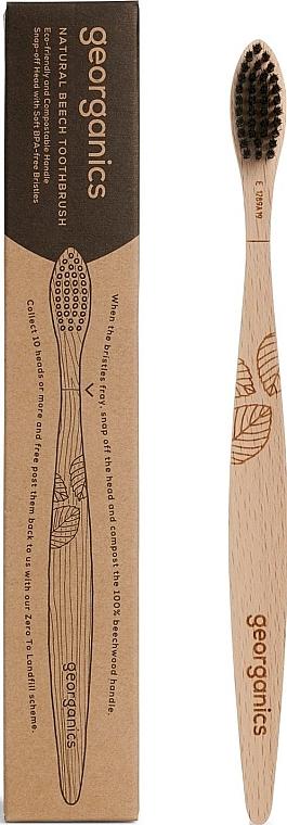 Bambuszahnbürste weich - Georganics Charcoal Soft Toothbrush