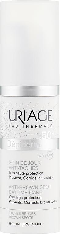 Gesichtsemulsion gegen Pigmentflecken SPF 50 - Uriage Depiderm Anti Brown Spots Haute Protection UVA-UVB SPF 50