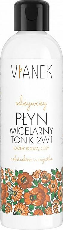 2in1 Mizellenwasser mit Ringelblumen- und Panthenolextrakt - Vianek Micellar Face Water