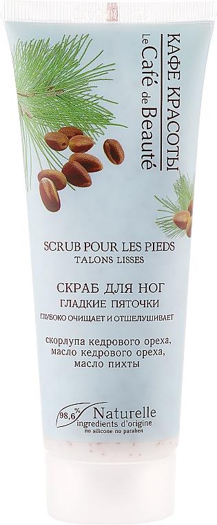 Fußpeeling mit Kiefer Nussschale und Tannenöl - Le Cafe de Beaute Foot Scrub Smooth Heels