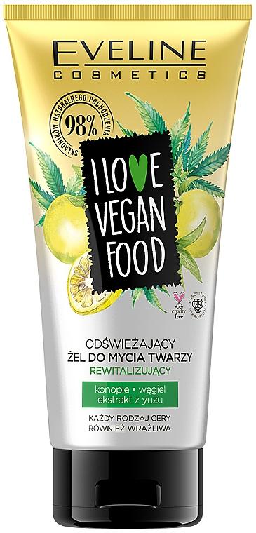 Kühlendes und revitalisierendes Gesichtswaschgel mit Hanf und Yuzu-Extrakt - Eveline I Love Vegan Food Face Wash Gel
