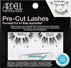 Düfte, Parfümerie und Kosmetik Künstliche Wimpern mit Wimpernkleber - Ardell Pre-Cut Wipies Lashes