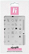 Düfte, Parfümerie und Kosmetik Nagelaufkleber - Hi Hybrid Simple Nail Stickers