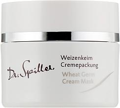 Düfte, Parfümerie und Kosmetik Nährende Gesichtscreme-Maske mit Weizenkeimöl - Dr. Spiller Wheat Germ Cream Mask